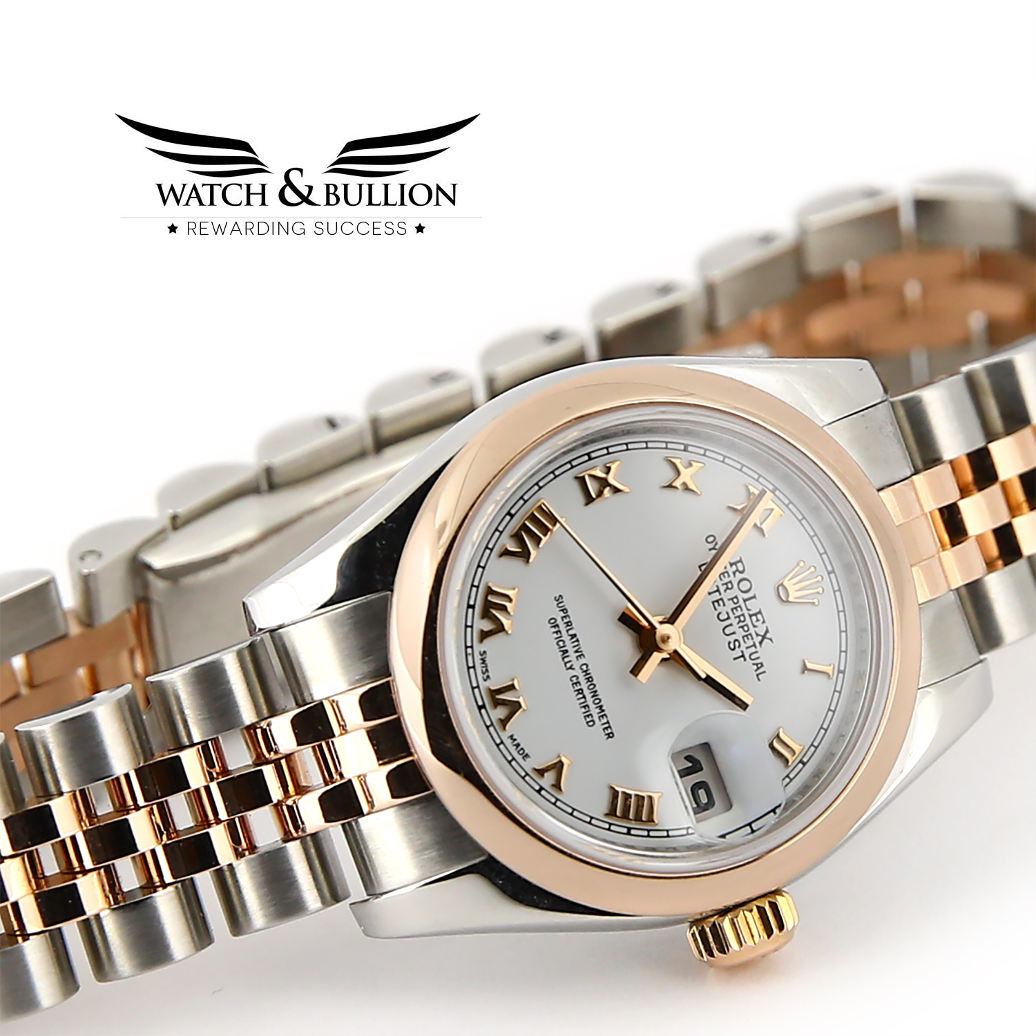 Rolex Oyster Perpetual Lady-Datejust Rose Gold & Steel
