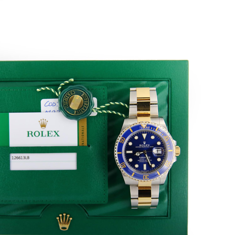 Rolex Submariner 126613lb Steel Gold Blue 41mm 2020