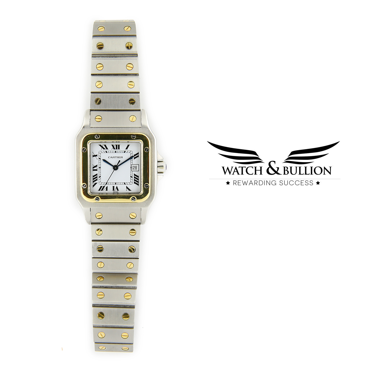 Cartier Santos Galbée Stainless Steel and Gold Automatic