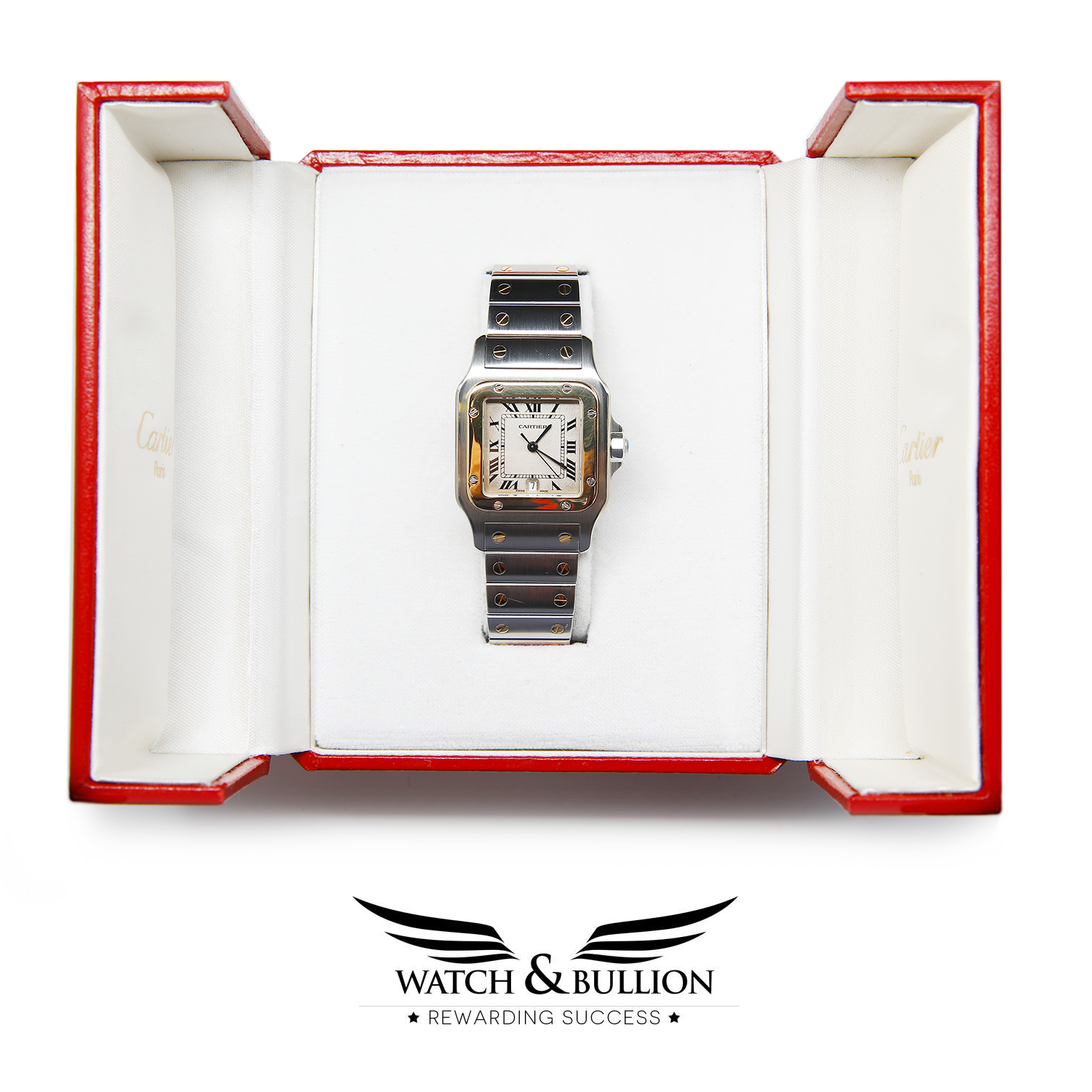 Cartier Santos Galbée Stainless Steel and Gold 187901