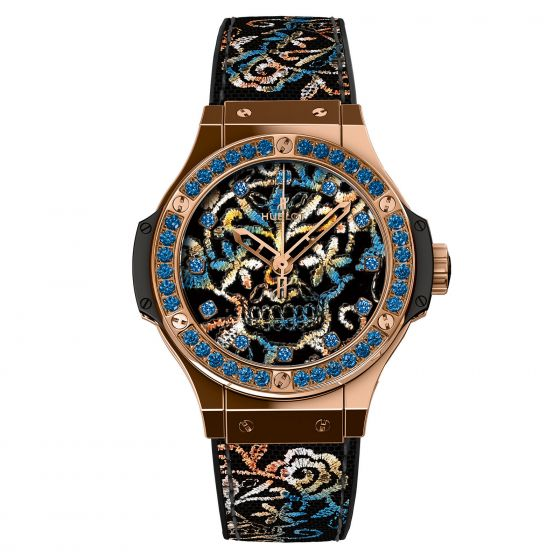 Hublot Big Bang Broderie Sugar Skull Rose Gold Limited Edition