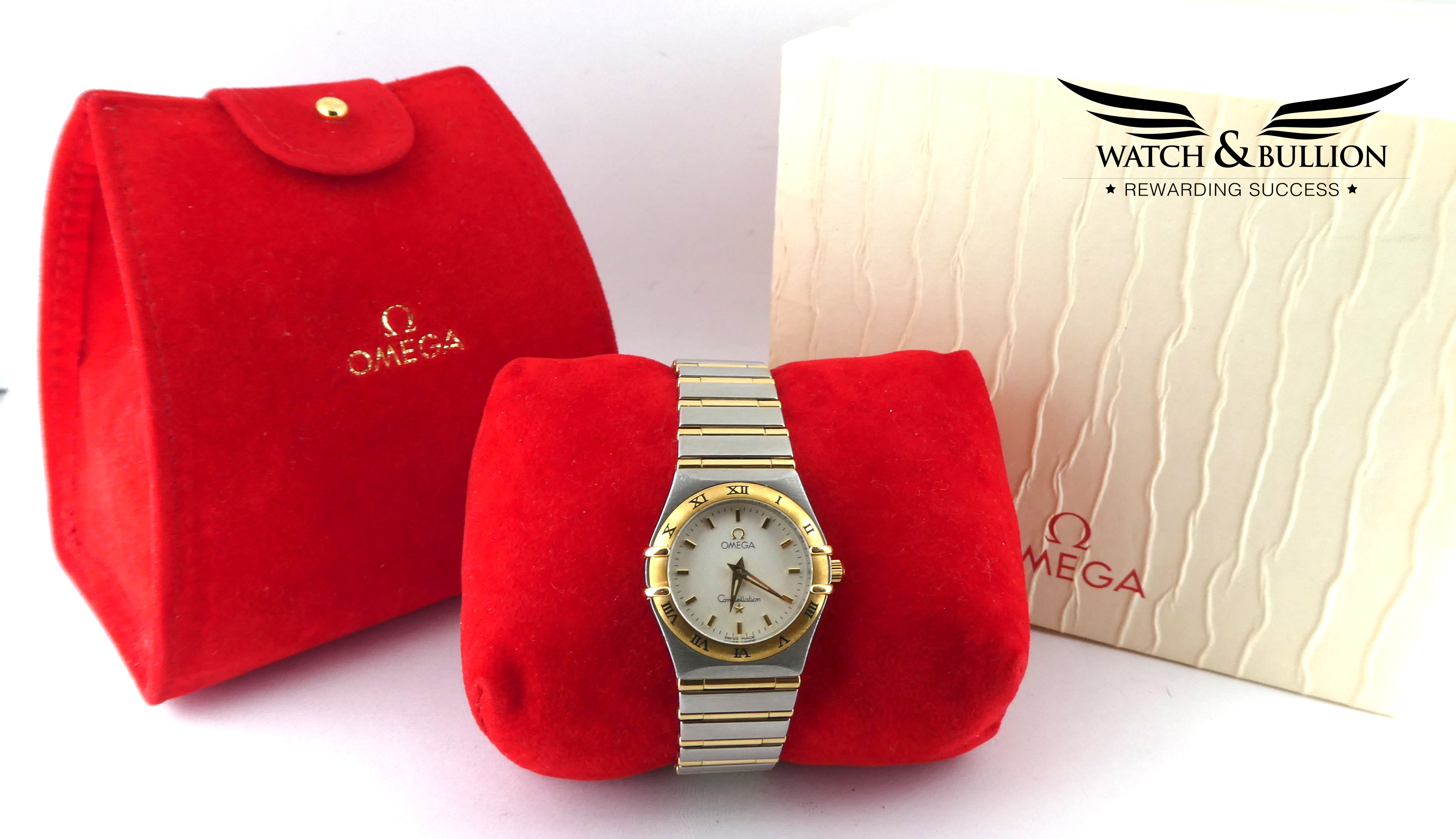 Omega Constellation Steel and Gold Full Set Ladies