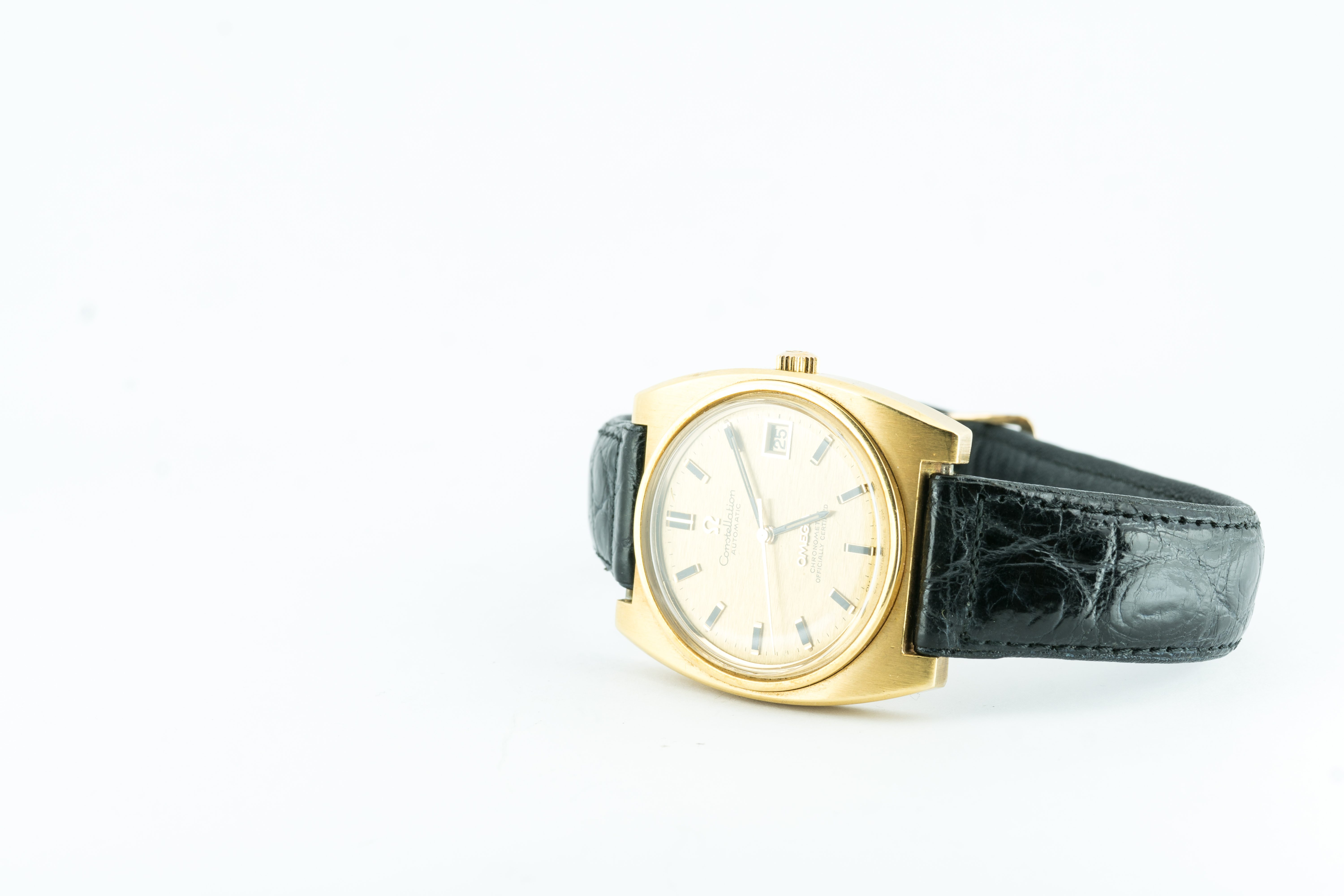 Omega Constellation Tonneau Case 1970's