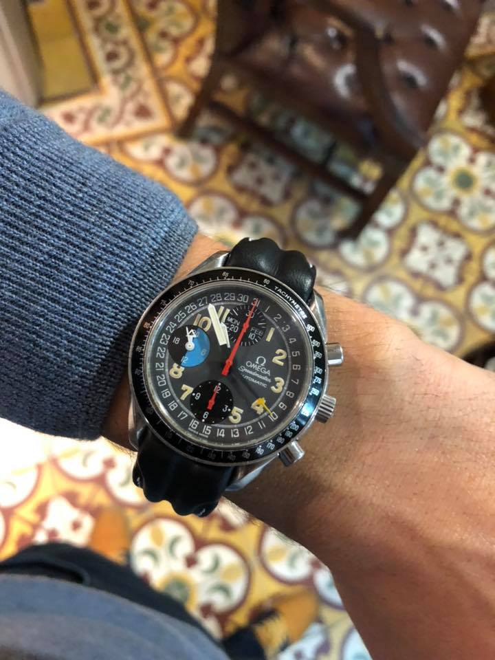 Omega SpeedMaster TripleDate Schumacher MK40 39mm Full Set