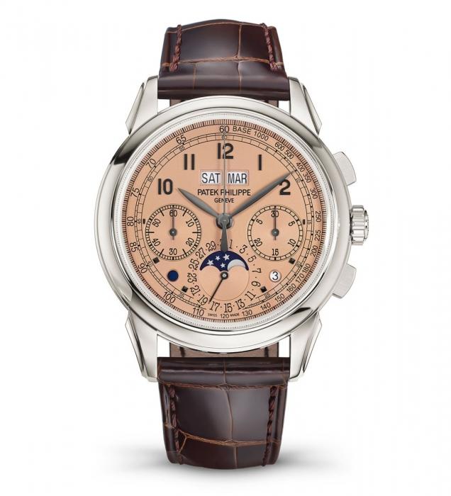 Patek Philippe 5270P Salmon Dial Perpetual Calendar Chronograph
