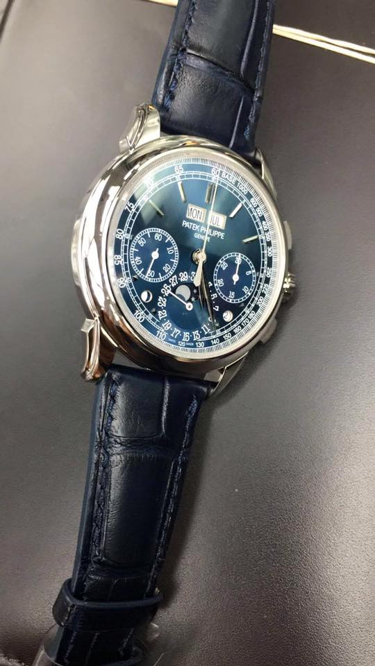 Patek Philippe White Gold Grand Complications Blue Dial 5270G-014