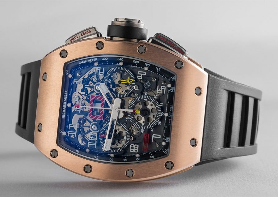 Richard Mille RM 011 Rose Gold Felipe Massa Flyback Chronograph
