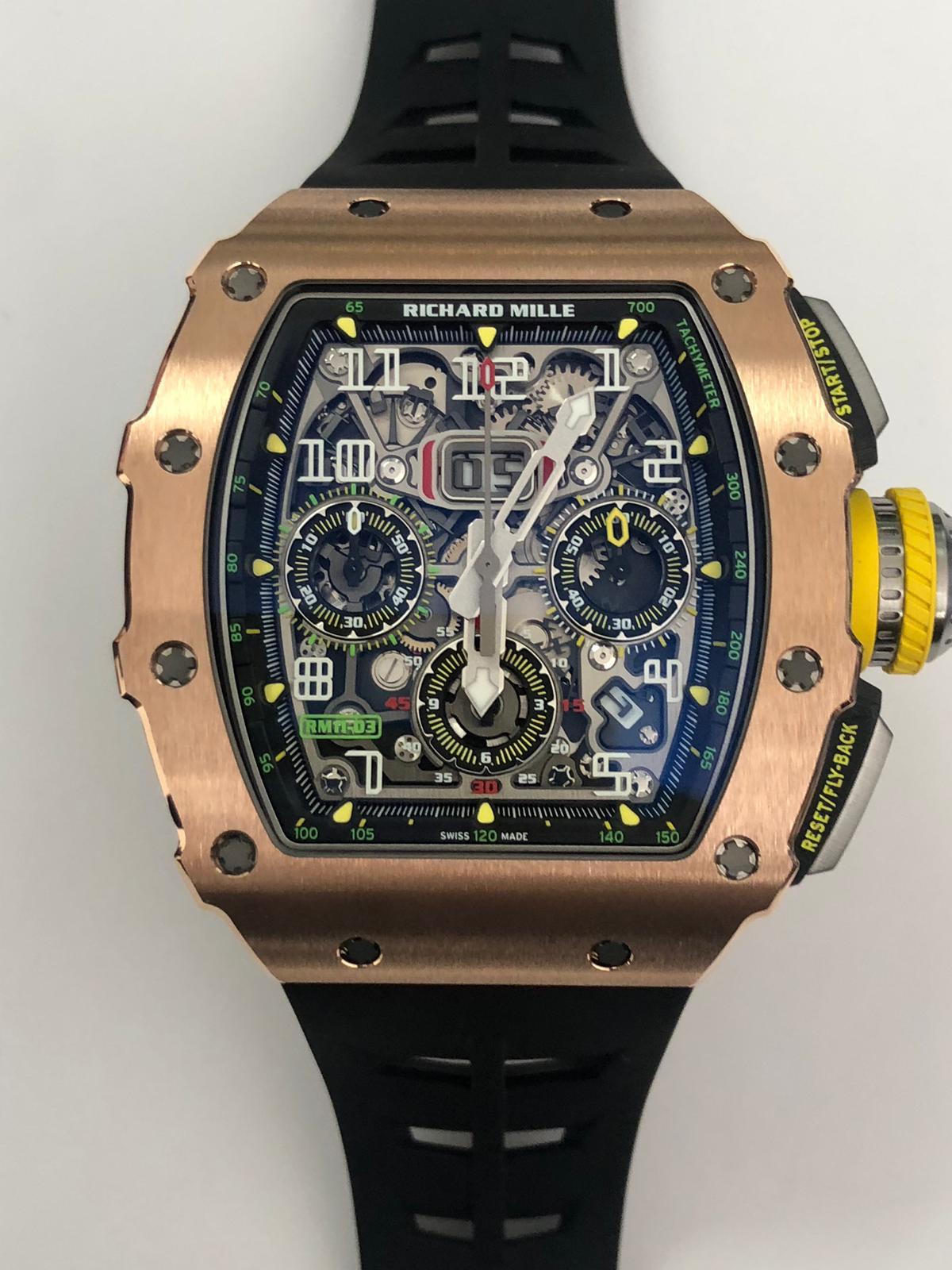 Richard Mille RM 11-03 Rose Gold Titanium Felipe Massa Flyback Chronograph