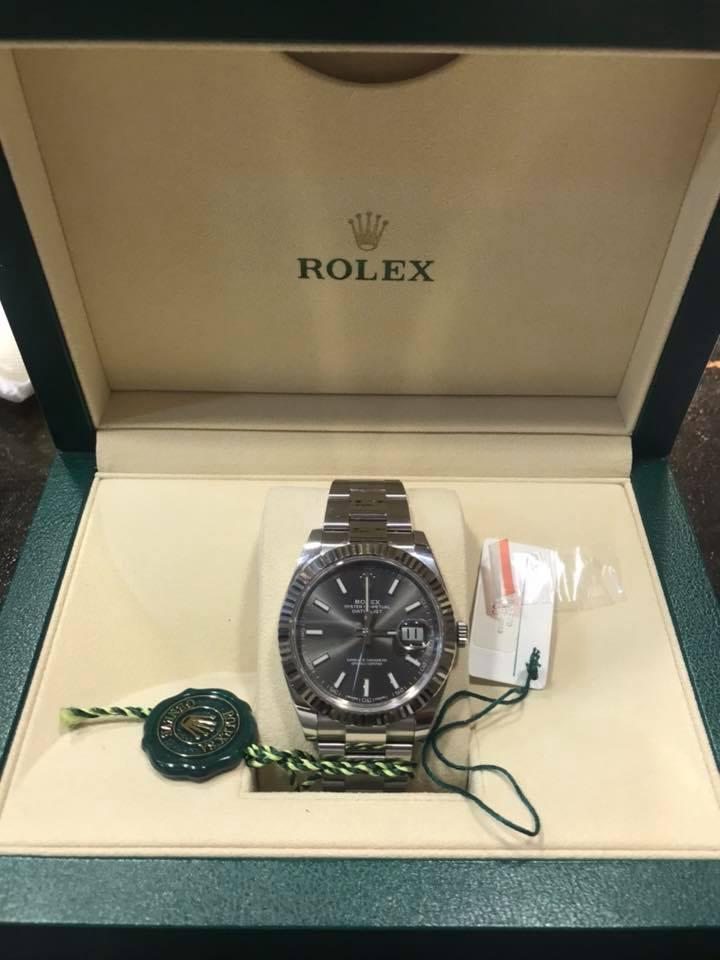 Rolex Datejust 41mm Rhodium Dial