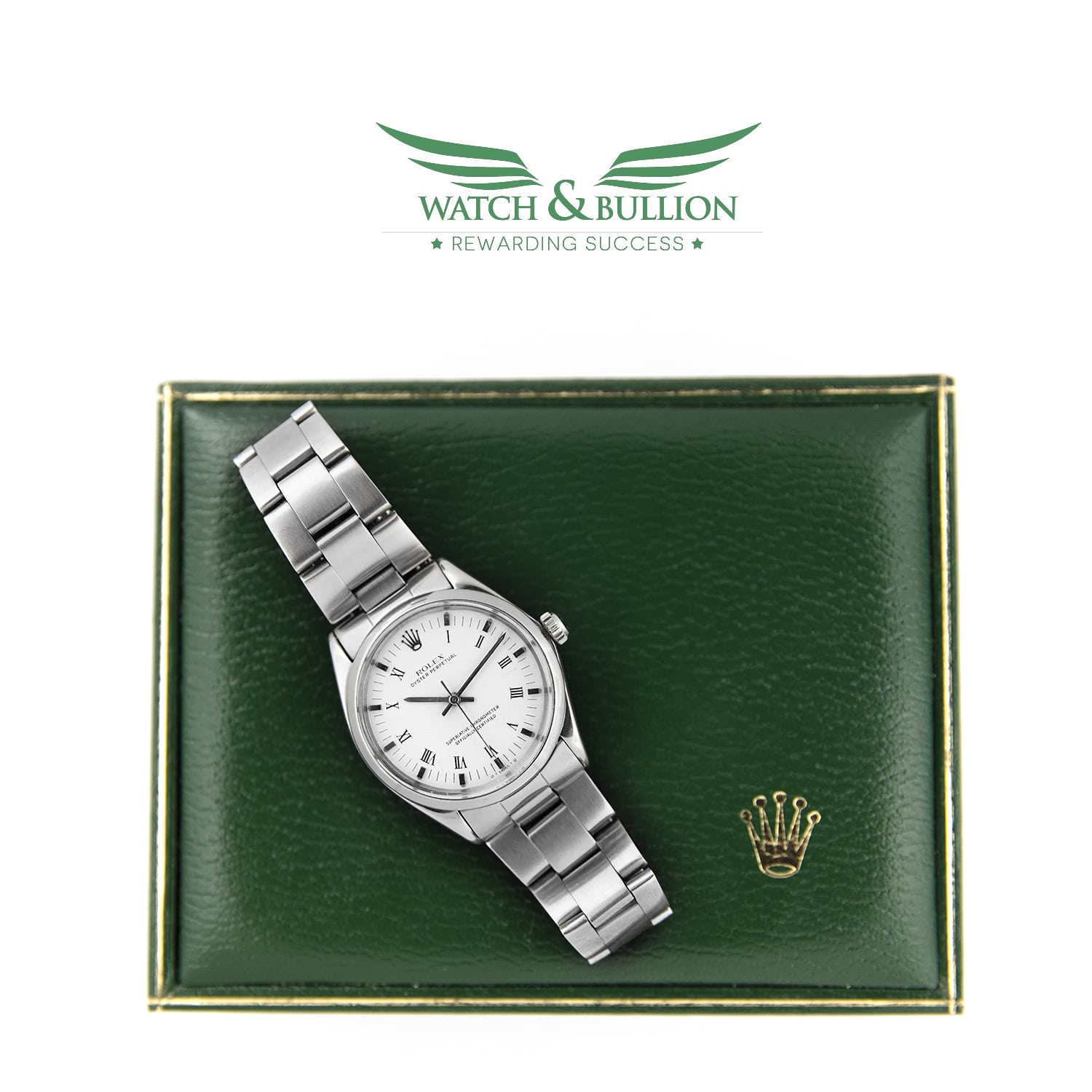 Rolex Oyster Perpetual 5500 White Roman Numeral Dial