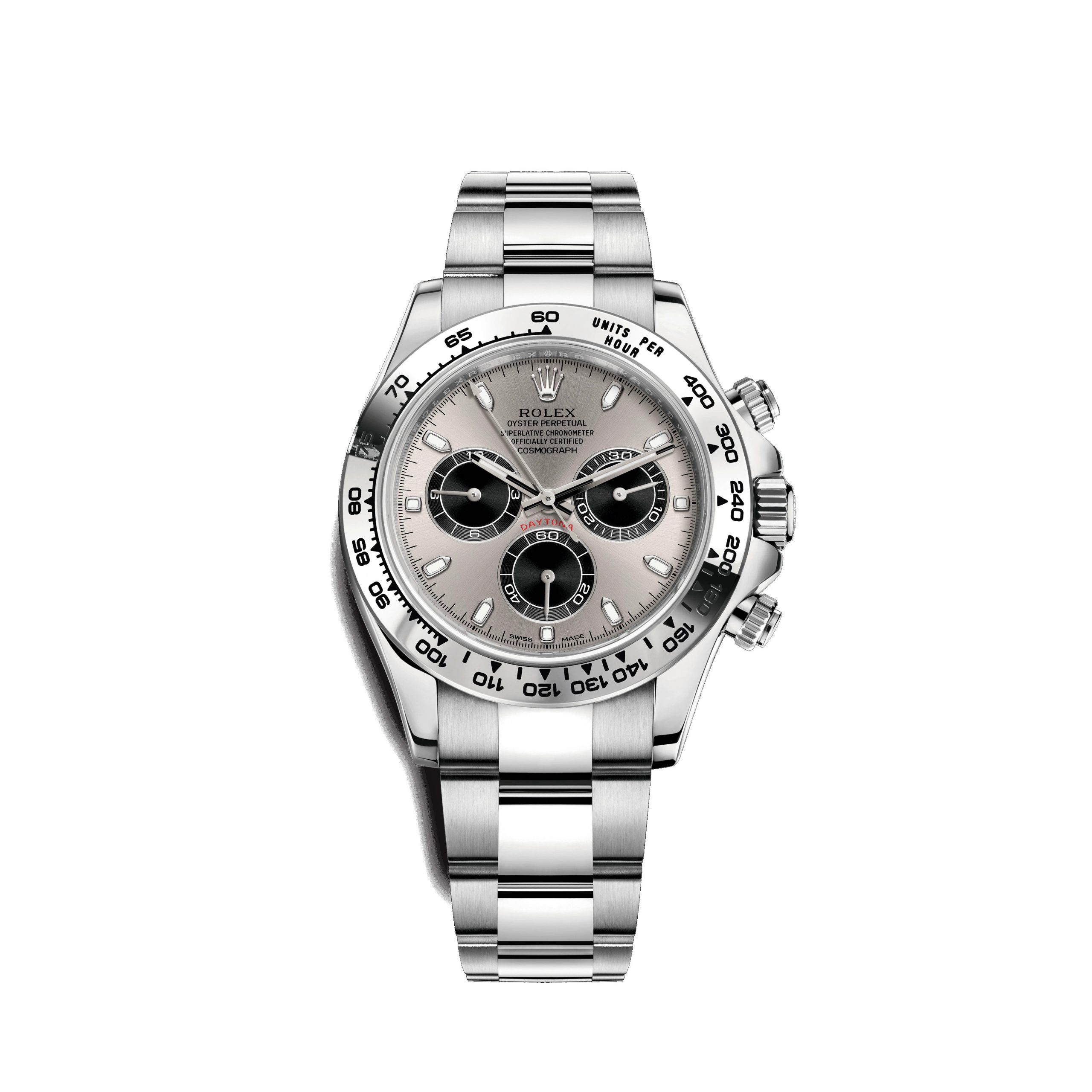 Rolex White Gold Daytona Model 116509 Silver & Black Panda Dial