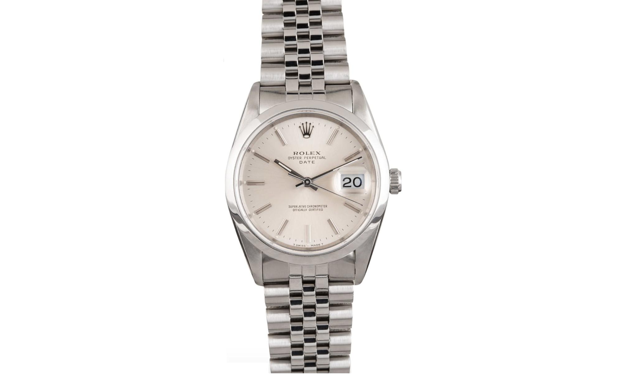 Rolex Oyster Perpetual Date 15200 smooth bezel on Jubilee bracelet