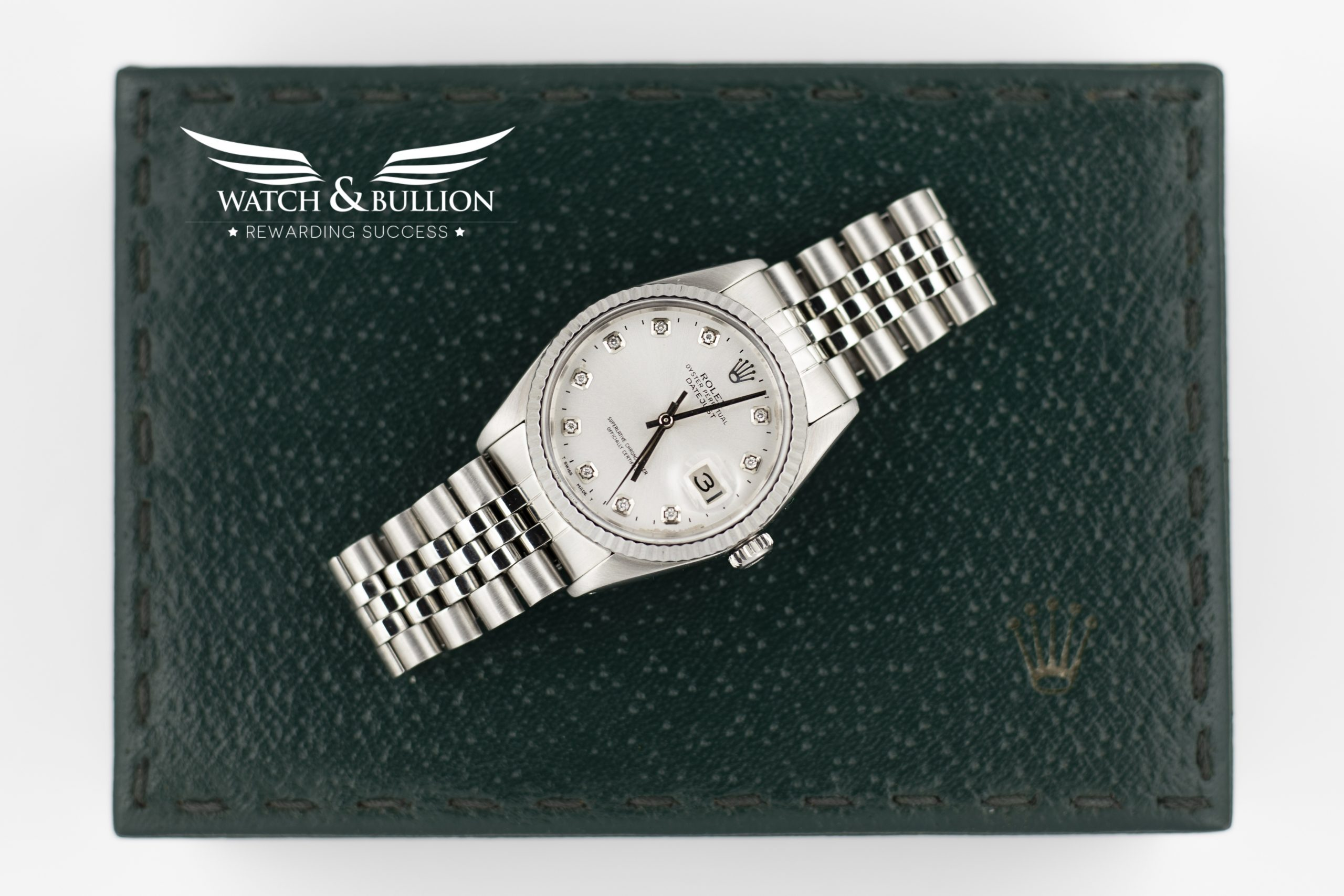 Rolex Datejust 16014 Silver Dial with Diamond Markers