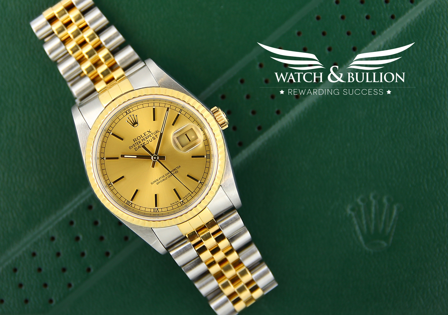 Rolex Datejust Champagne Dial Steel and Gold Jubilee bracelet 1989