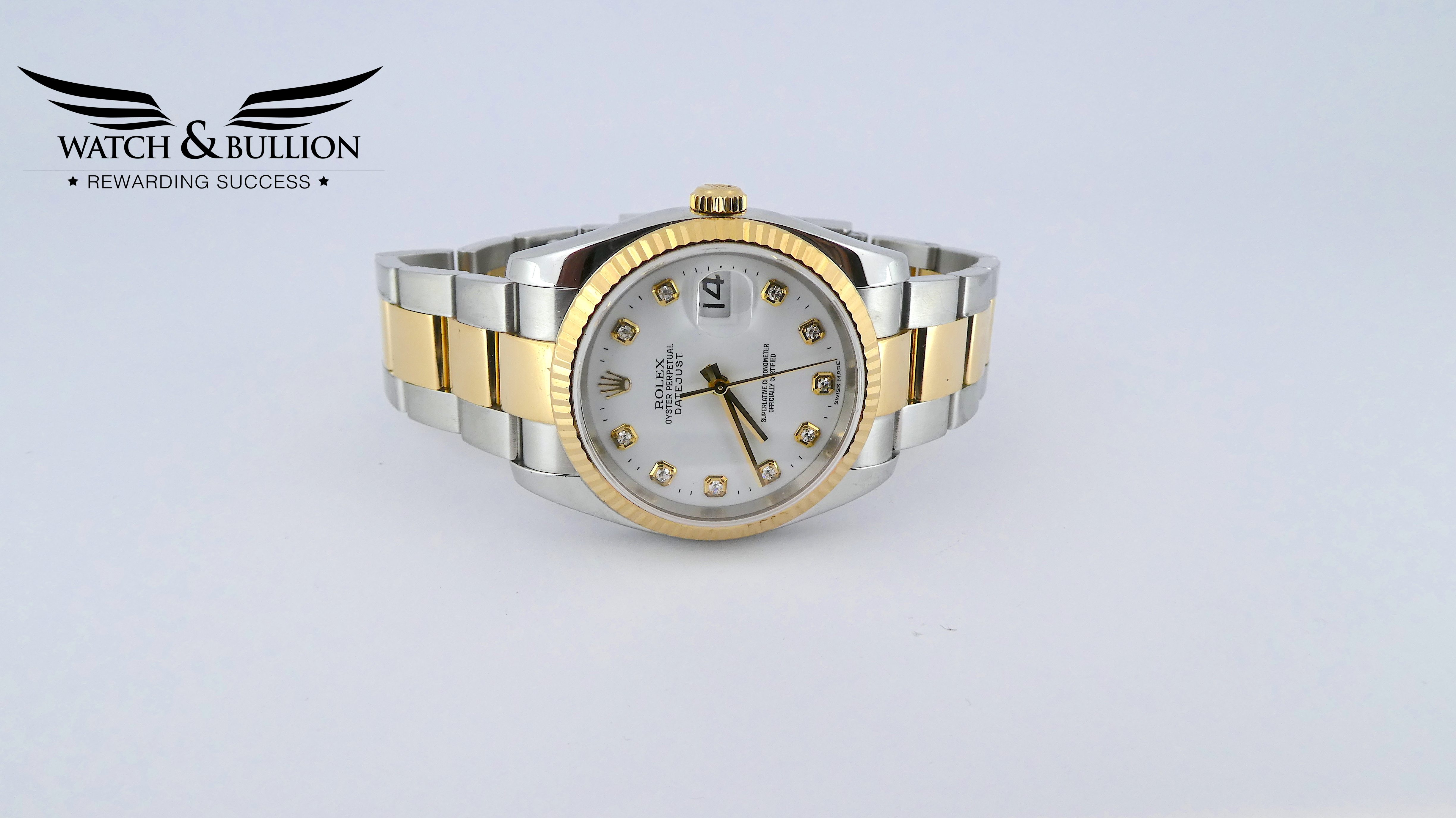 Rolex Datejust Steel and Gold Diamond Dial