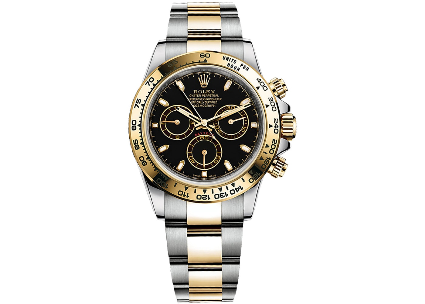 Rolex Cosmograph Daytona Steel and Gold 116503 Black Dial