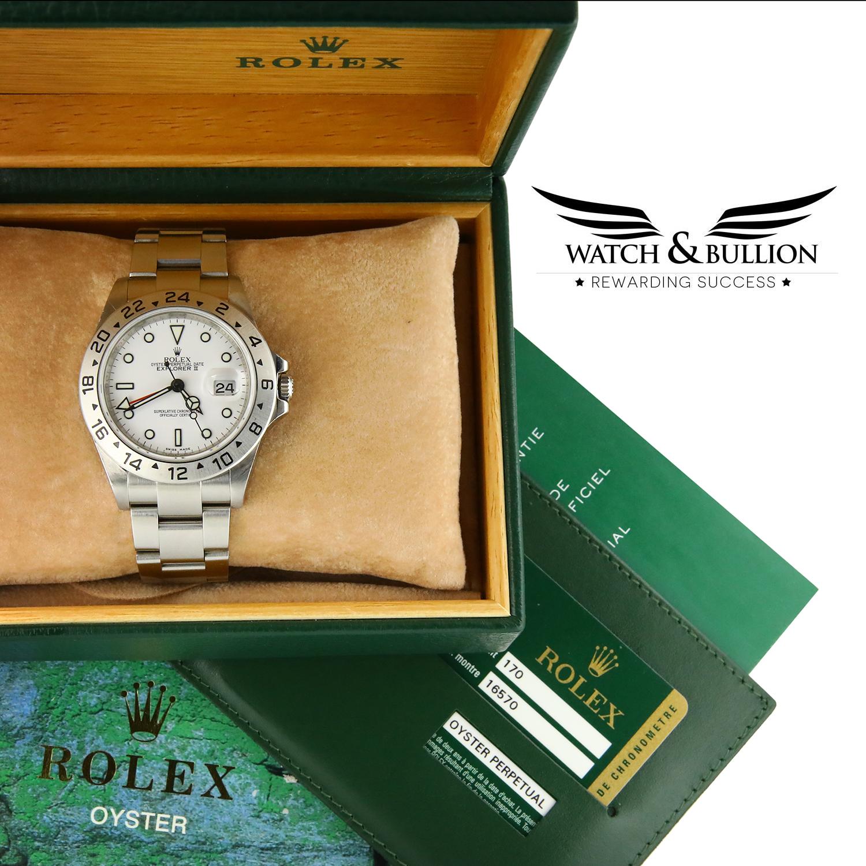 Rolex Explorer II Polar White 16570 40mm Oyster