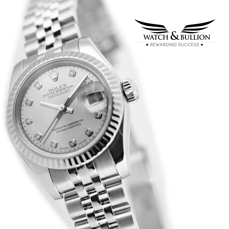 Rolex Lady Datejust Silver Dial Jubilee Bracelet - 179174 G