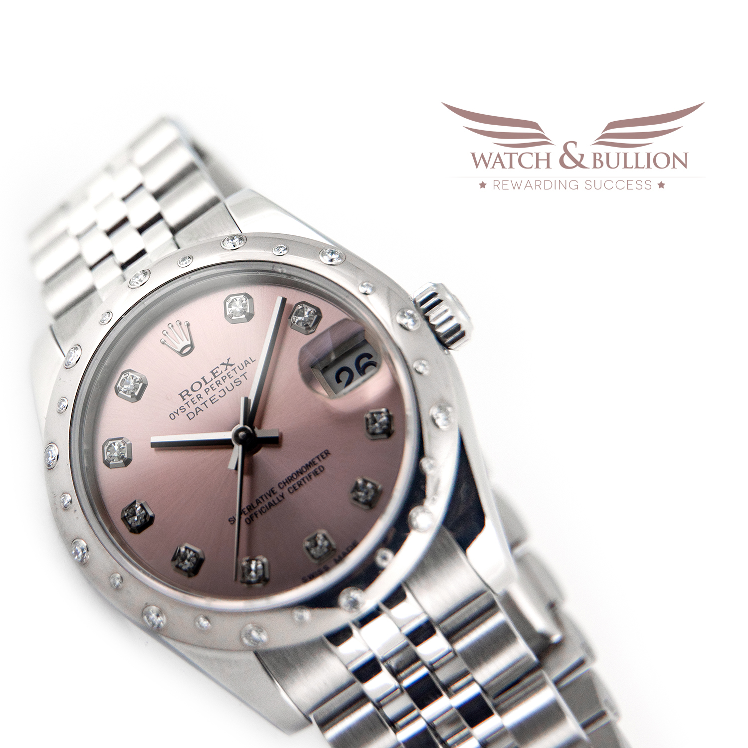 Rolex Lady-Datejust 31mm Oystersteel White Gold and Diamonds