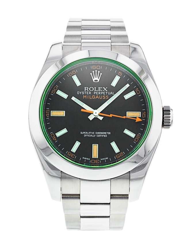 Rolex Milgauss Green Crystal 116400V