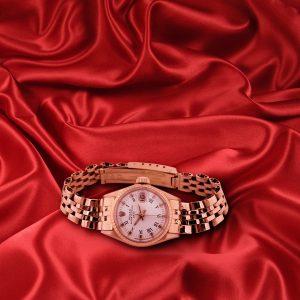 Rolex Ladies Datejust Rose Gold