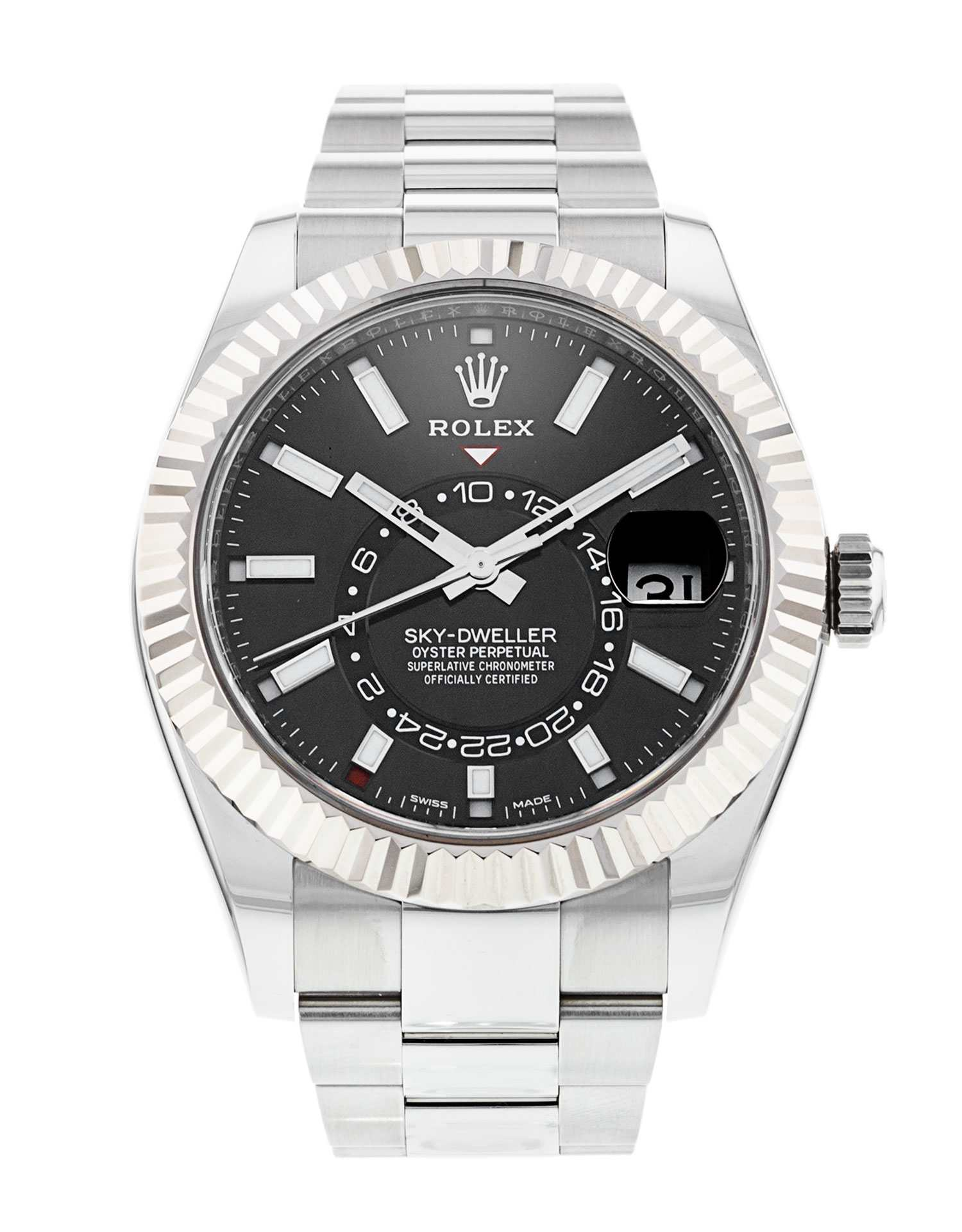Rolex Sky-Dweller Black Dial 326934 with Stickers