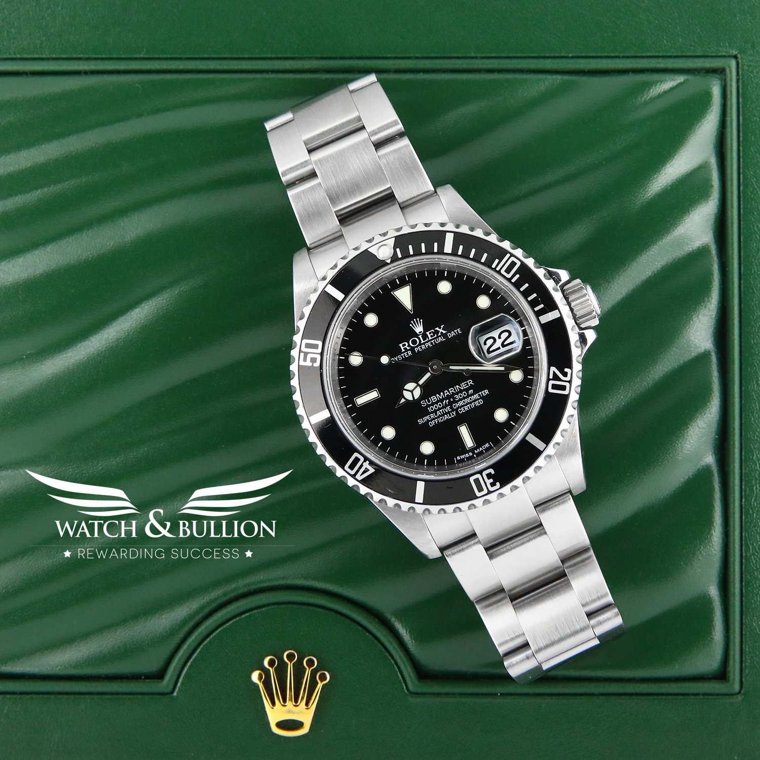 Rolex Submariner Date 16610 No Holes G Series