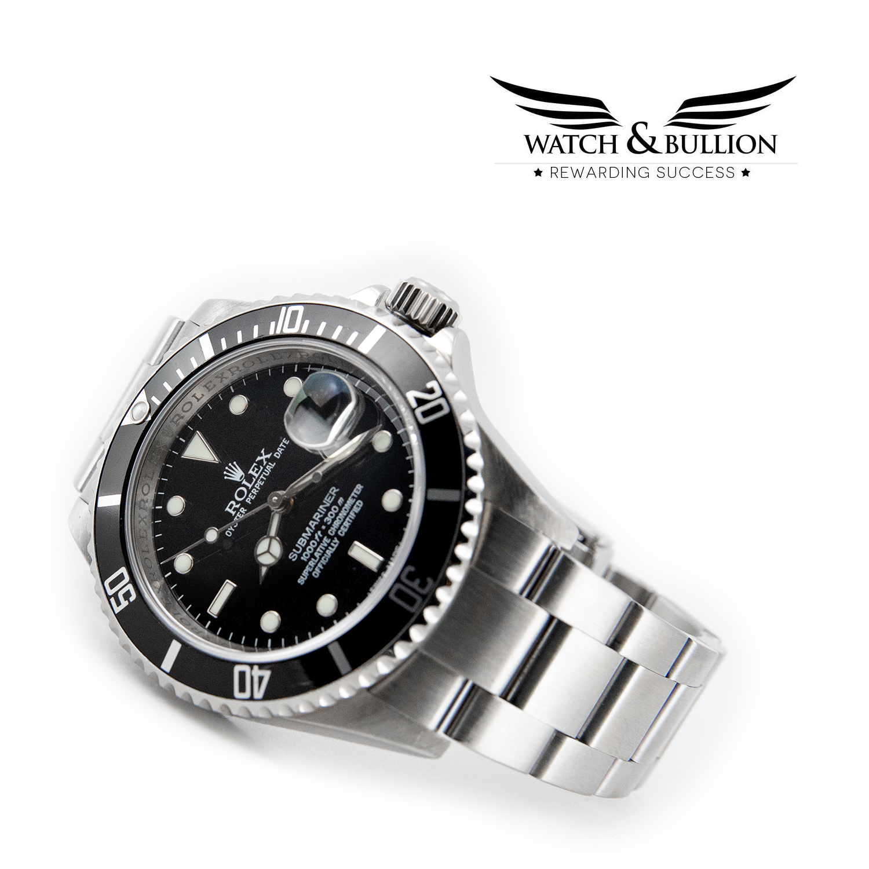 Rolex Submariner Date 16610 No Holes G Series