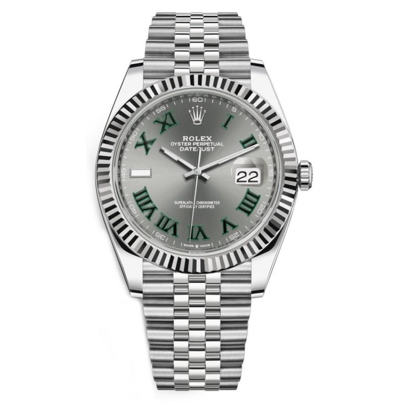 Rolex Datejust 41 Wimbledon Dial, Jubilee bracelet