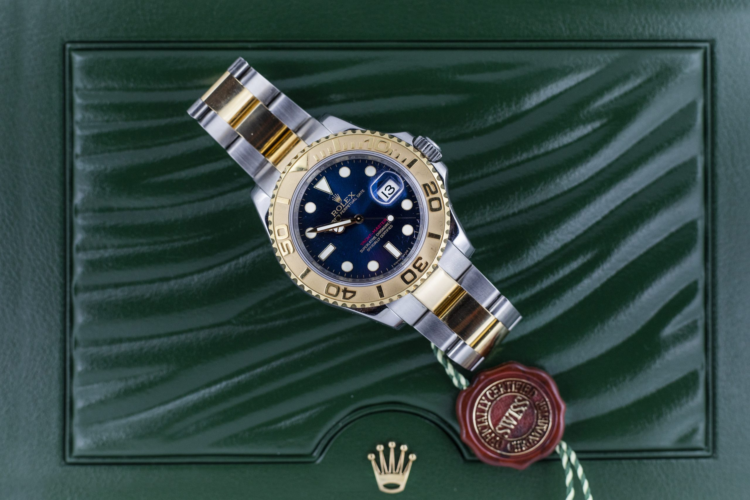 Rolex Yacht-Master Steel and Gold 40mm Blue Dial 16623